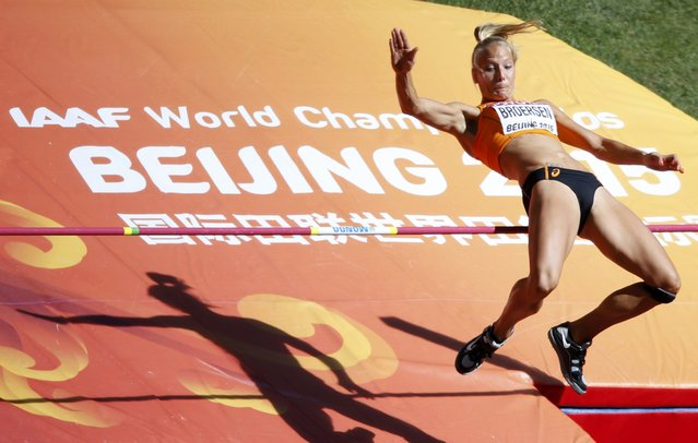 Nadine Broersen competes in the high jump event of the women's heptathlon during the 15th IAAF World Championships at the National Stadium in Beijing, China, August 22, 2015. (Photo by Fabrizio Bensch/Reuters)