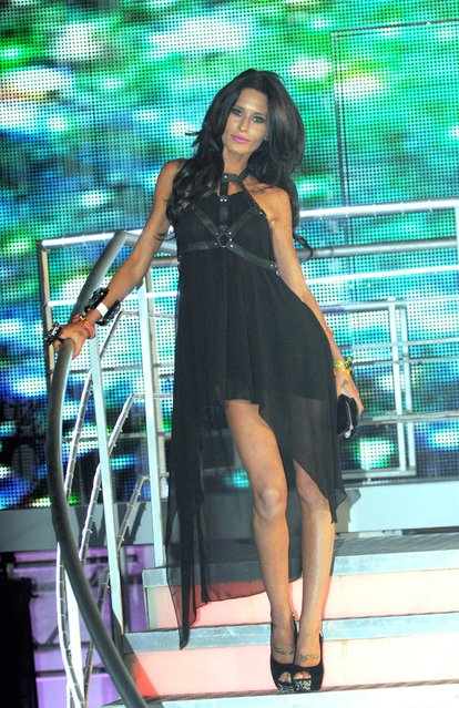 Reality TV star and model Jasmine Lennard attends the Celebrity Big Brother House on the final night at Elstree Studios on September 7, 2012 in Borehamwood, England. (Photo by Rex Features/Shutterstock)