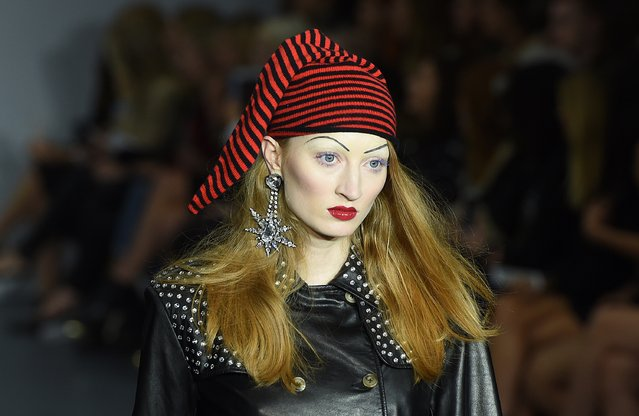 Hat detail during the Ashley Williams show at London Fashion Week Spring/Summer 2016 on September 22, 2015 in London, England. (Photo by Stuart C. Wilson/Getty Images)