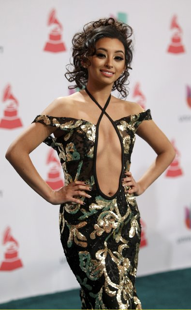 Singer Desiree Estrada arrives at the 15th Annual Latin Grammy Awards in Las Vegas, Nevada November 20, 2014. (Photo by Steve Marcus/Reuters)
