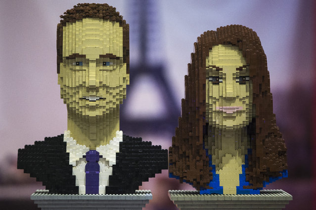 Busts of Catherine, Duchess of Cambridge and Prince William; Duke of Cambridge made out of Lego are displayed on the opening day of BRICK 2014 at the Excel Centre on November 27, 2014 in London, England. The four day event showcases creations by some of the world's best Lego builders and runs until November 30th. (Photo by Dan Kitwood/Getty Images)