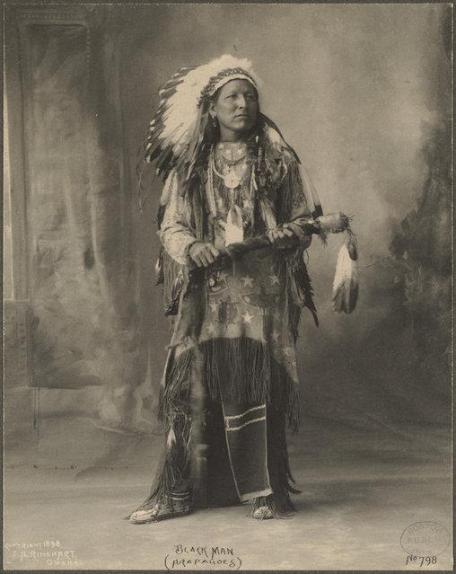Black Man, (Arapahoes), 1899. (Photo by Frank A. Rinehart)