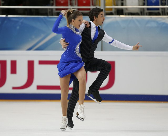 Figure Skating, ISU Grand Prix Rostelecom Cup 2016/2017, Ice Dance Short Dance, Moscow, Russia on November 4, 2016. Alisa Agafonova and Alper Ucar of Turkey compete. (Photo by Grigory Dukor/Reuters)