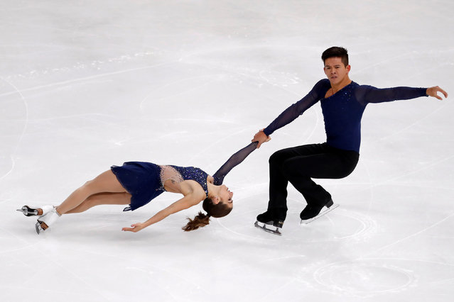 Figure Skating, ISU Grand Prix of Figure Skating Trophee de France 2016/2017, Pairs Short Program, Paris, France on November 11, 2016. Marissa Castelli and Mervin Tran of the United States perform. (Photo by Charles Platiau/Reuters)