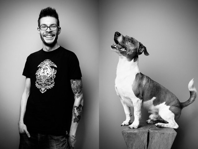 "Pet owner Tim with his Jack Russell terrier, ""Milo"". (Photo by Tobias Lang)"