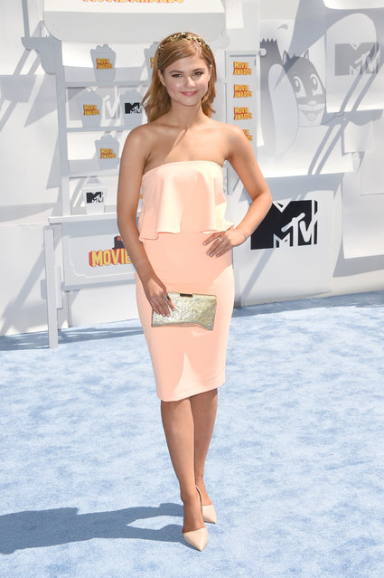 Actress Stefanie Scott attends The 2015 MTV Movie Awards at Nokia Theatre L.A. Live on April 12, 2015 in Los Angeles, California. (Photo by Jason Merritt/Getty Images)