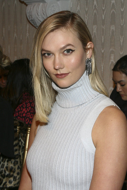 Karlie Kloss attends the NYFW Fall/Winter 2019 Brandon Maxwell fashion show at Hotel Pennsylvania on Saturday, February 9, 2019, in New York. (Photo by Andy Kropa/Invision/AP Photo)