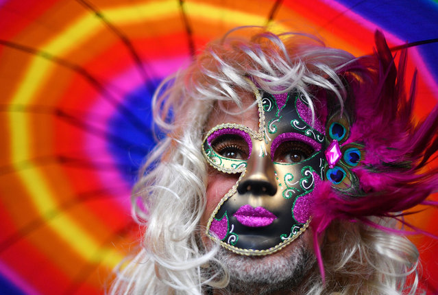 A participant attends the annual Gay and Lesbian Mardi Gras parade in Sydney on March 2, 2019. Thousands of revellers took part in the iconic festival which celebrates sexual equality in the heart of Australia's biggest city. (Photo by Saeed Khan/AFP Photo)