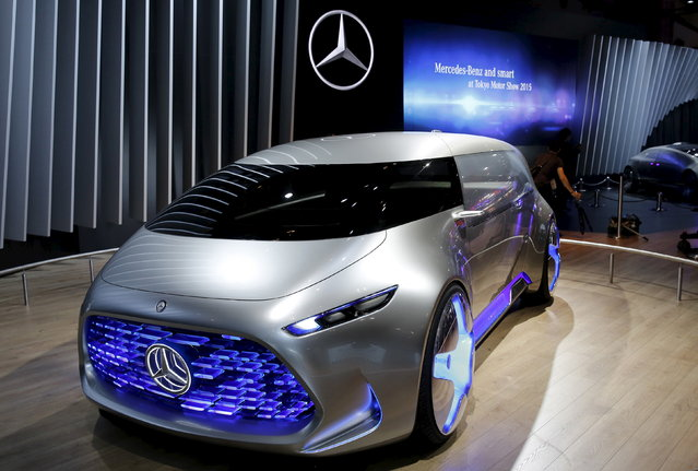 Mercedes-Benz Vision Tokyo concept car is on display at the 44th Tokyo Motor Show in Tokyo Wednesday, October 28, 2015. (Photo by Toru Hanai/Reuters)