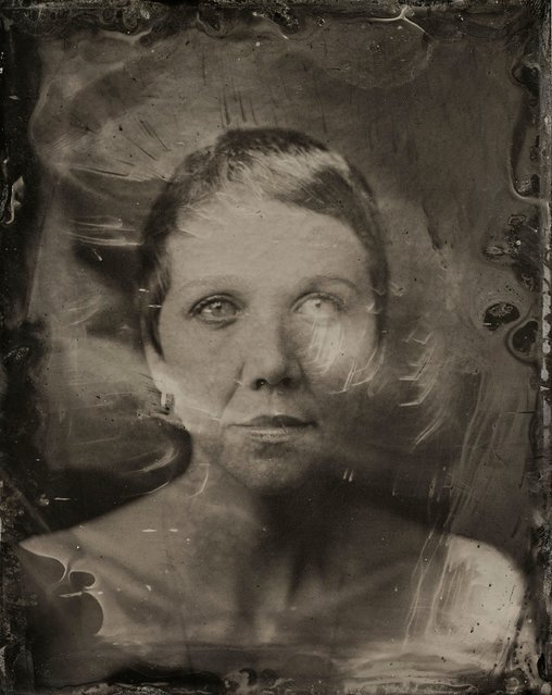 Maggie Gyllenhaal poses for a tintype (wet collodion) portrait at The Collective and Gibson Lounge Powered by CEG, during the 2014 Sundance Film Festival in Park City, Utah. (Photo by Victoria Will/AP Photo/Invision)