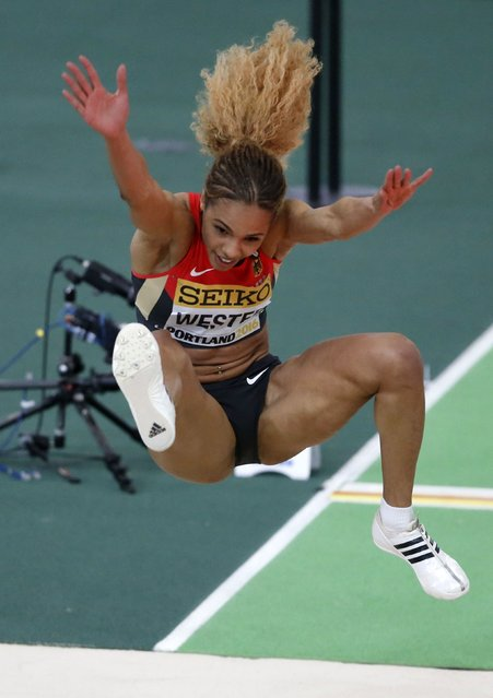 Alexandra Wester of Germany competes in the women's long jump during the IAAF World Indoor Athletics Championships in Portland, Oregon March 18, 2016. (Photo by Lucy Nicholson/Reuters)