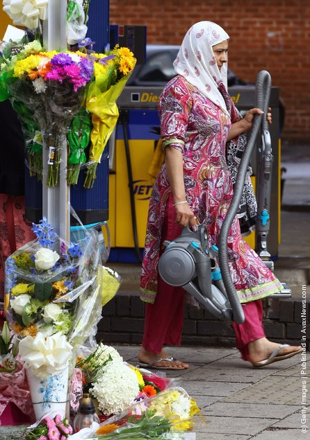 Respects Are Paid To Three Killed In Hit And Run During Birmingham Riot