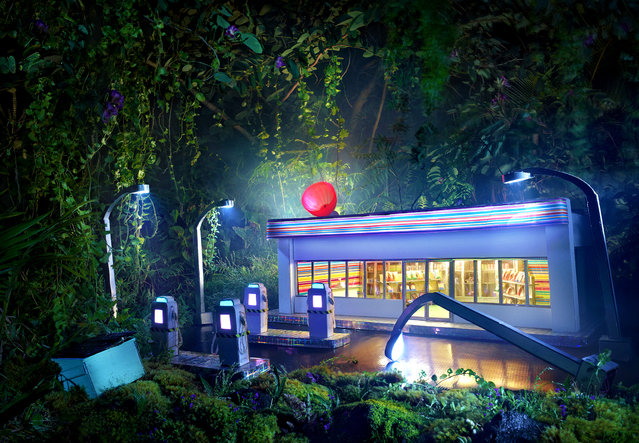 David LaChapelle, Gas Am Pm, 2013, chromogenic print, 50 x 72 3/16 inches, 127 x 183.4 cm, edition of 3. Image courtesy of the artist and Paul Kasmin Gallery. (Photo by David LaChapelle Studio)