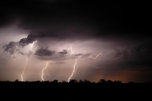 The photographer said that he followed his first lightning storm in November 1988, and, on December 2, 1988, took his first images of the powerful bolts. (Photo by Michael Bath/Caters News)