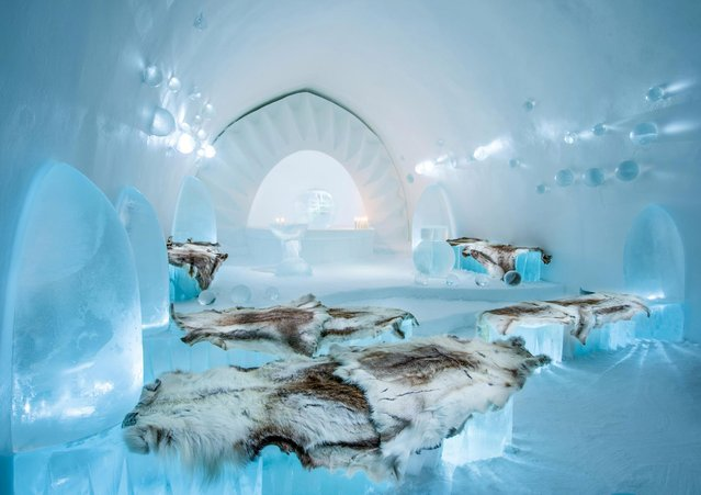 The suites made from ice and snow this year at the Ice Hotel include animal influences and theatre-inspired rooms. (Photo by Icehotel.com/Exclusivepix Media)