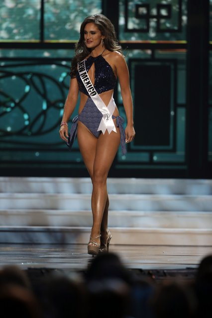 Miss New Mexico, Alexis Duprey, competes in the swimsuit competition during the preliminary round of the 2015 Miss USA Pageant in Baton Rouge, La., Wednesday, July 8, 2015. (Photo by Gerald Herbert/AP Photo)
