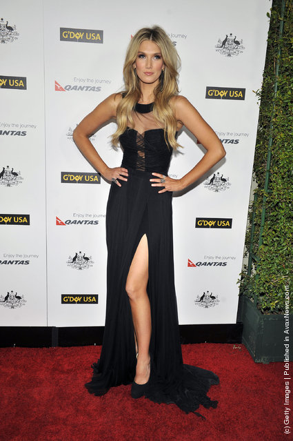 Delta Goodrem arrives for the 9th Annual G'Day USA Los Angeles Black Tie gala