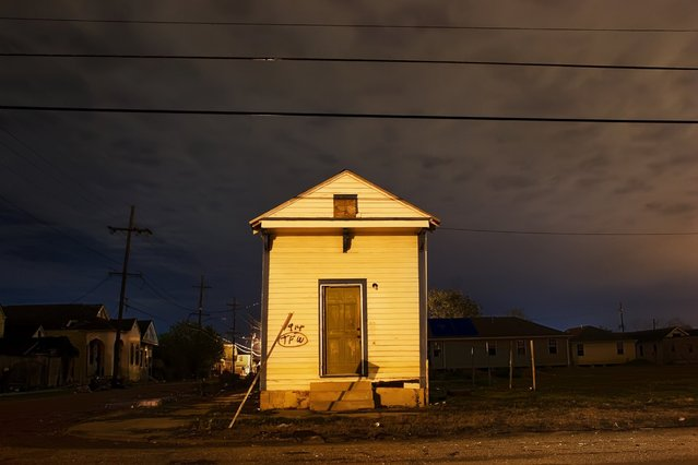 """Tupelo"". A.P. Tureaud between Tonti SSt. and Miro St., New Orleans, La., Sept. 2005. (Photo by Frank Relle)"