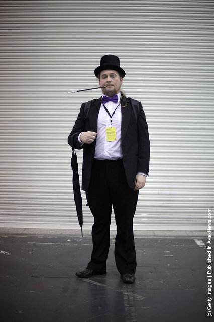 A visitor to the London Super Comic Convention dresses as The Penguin at ExCel