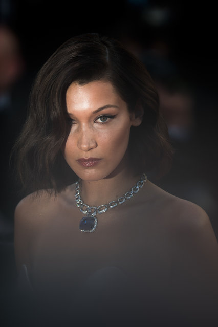 """Model Bella Hadid attends the """"Ismael's Ghosts (Les Fantomes d'Ismael)"""" screening and Opening Gala during the 70th annual Cannes Film Festival at Palais des Festivals on May 17, 2017 in Cannes, France. (Photo by Matthias Nareyek/Getty Images)"""
