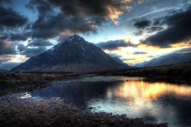 A general view of Buachaille Etive Mor near Glencoe, Scotland. (Photo by Bruce Sutherland/Scoopt/Getty Images)