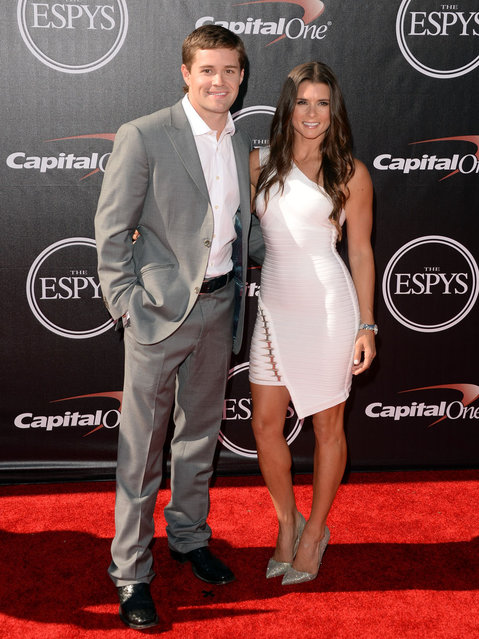 Nascar driver Ricky Stenhouse Jr. and Nascar driver Danica Patrick  attends The 2014 ESPYS at Nokia Theatre L.A. Live on July 16, 2014 in Los Angeles, California. (Photo by Jason Merritt/Getty Images)