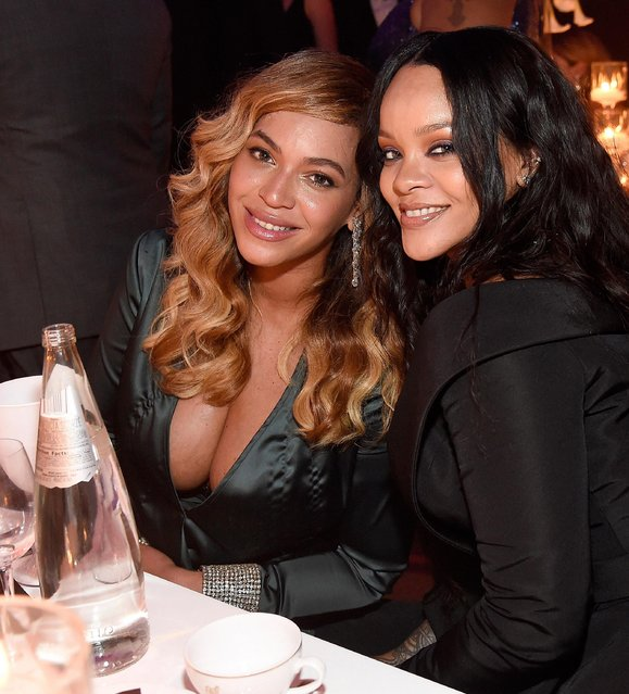 Beyonce and Rihanna attend Rihanna's 3rd Annual Diamond Ball Benefitting The Clara Lionel Foundation at Cipriani Wall Street on September 14, 2017 in New York City. (Photo by Kevin Mazur/Getty Images for Clara Lionel Foundation)