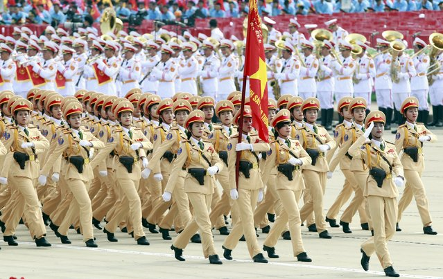 Traffic policewomen march during a parade marking their 70th National Day at Ba Dinh square in Hanoi, Vietnam September 2, 2015. (Photo by Reuters/Kham)