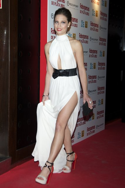 Spanish actress Michelle Jenner attends the Fotogramas Awards 2012 at Joy Eslava Club  on March 12, 2012 in Madrid, Spain.  (Photo by Carlos Alvarez/Getty Images)