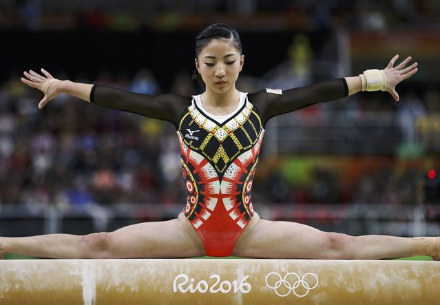 2016 Rio Olympics, Artistic Gymnastics, Final, Women's Individual All-Around Final, Rio Olympic Arena, Rio de Janeiro, Brazil on August 11, 2016. Asuka Teramoto (JPN) of Japan competes on the beam during the women's individual all-around final. (Photo by Damir Sagolj/Reuters)