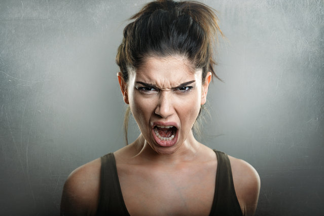 Furious frustrated woman screaming rage stock images. (Photo by Alamy Stock Photo)