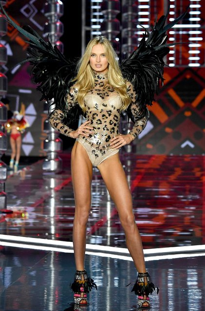 Romee Strijd walks the runway during the 2017 Victoria's Secret Fashion Show In Shanghai at Mercedes-Benz Arena on November 20, 2017 in Shanghai, China. (Photo by Frazer Harrison/Getty Images for Victoria's Secret)