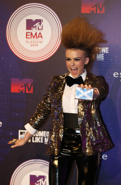 Tallia Storm arrives on the carpet before the 2014 MTV Europe Music Awards at the SSE Hydro Arena in Glasgow. (Photo by Russell Cheyne/Reuters)