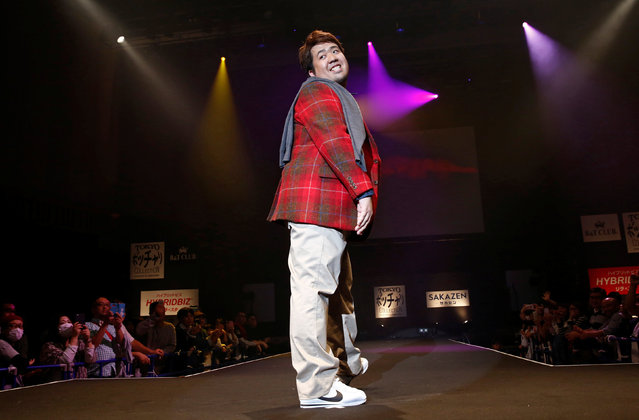 A model poses on the runway during Tokyo Pocchari collection, Japan's first fashion show for the plump men in Tokyo, Japan, September 22, 2016. (Photo by Kim Kyung-Hoon/Reuters)