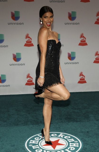 Actress Roselyn Sanchez arrives at the 15th Annual Latin Grammy Awards in Las Vegas, Nevada November 20, 2014. (Photo by Steve Marcus/Reuters)