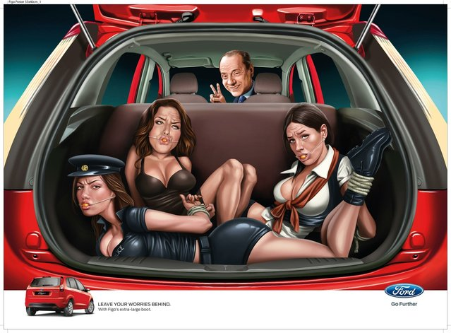 Silvio Berlusconi: Disturbing Ads for the Ford Figo by JWT India