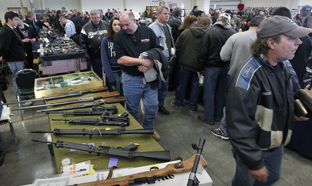 The Washington County Fairgrounds Gun Show drew thousands of people over the weekend, on March 22, 2013. (Photo by Gary Porter)
