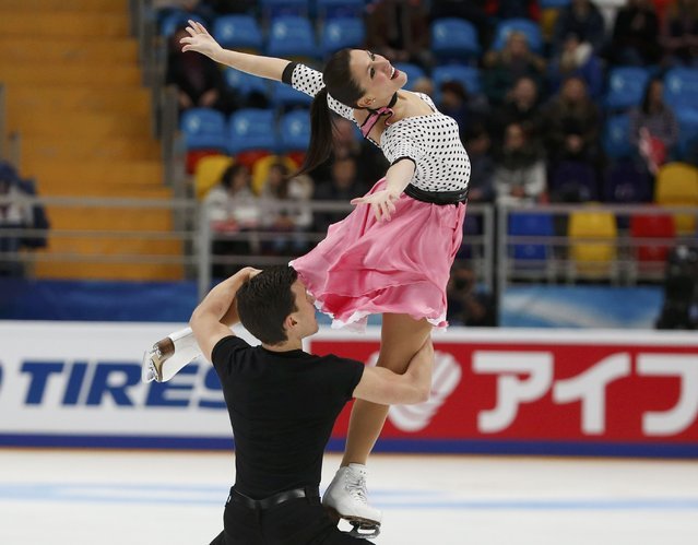 Figure Skating, ISU Grand Prix Rostelecom Cup 2016/2017, Ice Dance Short Dance, Moscow, Russia on November 4, 2016. Charlene Guignard and Marco Fabbri of Italy compete. (Photo by Grigory Dukor/Reuters)