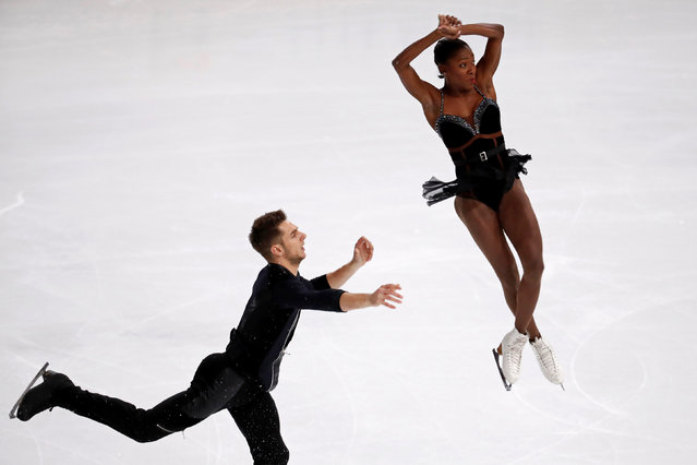 Figure Skating, ISU Grand Prix of Figure Skating Trophee de France 2016/2017, Pairs Short Program, Paris, France on November 11, 2016. Vanessa James and Morgan Cipres of France perform. (Photo by Charles Platiau/Reuters)