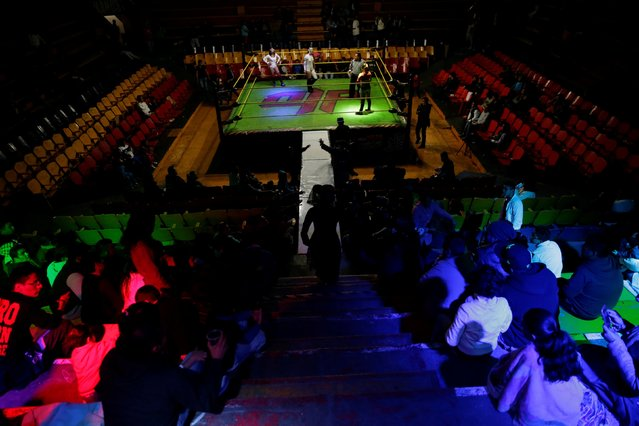 The wrestling ring of the Arena Neza is seen on the outskirts of Mexico City, Mexico October 28, 2016. (Photo by Carlos Jasso/Reuters)