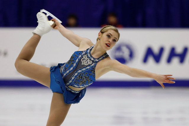 Figure Skating, ISU Grand Prix of Figure Skating NHK Trophy 2016/2017, Ladies Free Program, Sapporo, Japan on November 26, 2016. Alaine Chartrand of Canada competes. (Photo by Issei Kato/Reuters)