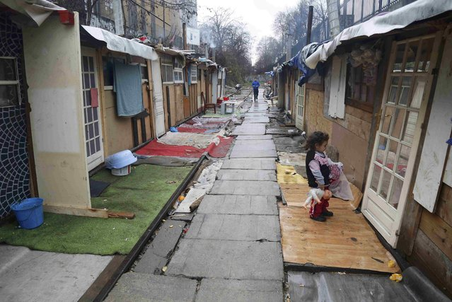 A view shows a Romani camp installed along La Petite Ceinture, an abandoned railroad line, in Paris, France, February 2, 2016. (Photo by Jacky Naegelen/Reuters)