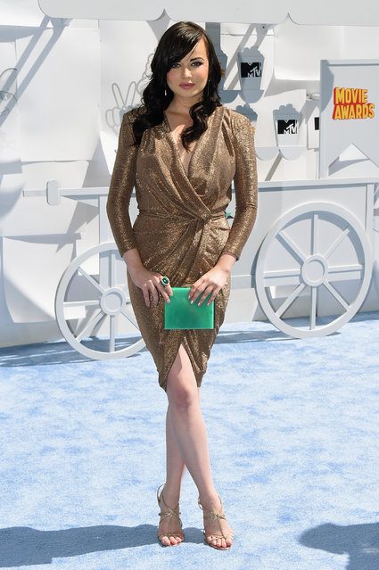 Actress Ashley Rickards attends The 2015 MTV Movie Awards at Nokia Theatre L.A. Live on April 12, 2015 in Los Angeles, California. (Photo by Michael Buckner/Getty Images)