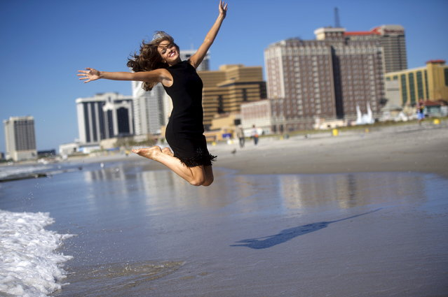 Miss America 2016 Betty Cantrell of Georgia poses for photographs by the ocean after winning the 95th Miss America Pageant last night at Boardwalk Hall, in Atlantic City, New Jersey, September 14, 2015. (Photo by Mark Makela/Reuters)