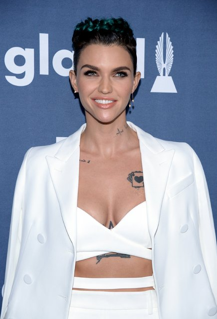 Ruby Rose attends the 27th annual GLAAD Media Awards in Beverly Hills, California April 2, 2016. (Photo by Phil McCarten/Reuters)