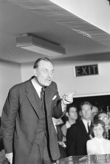 1970: Controversial conservative MP Mr Enoch Powell addressing a meeting in Wolverhampton as part of his campaign for the forthcoming election