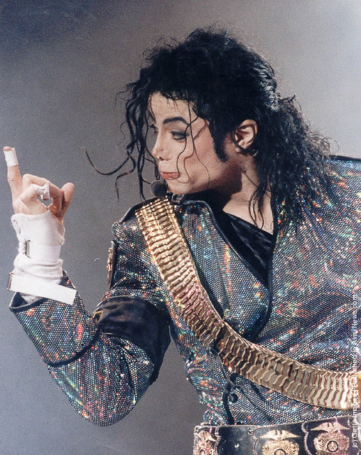 Singer Michael Jackson performs on stage
