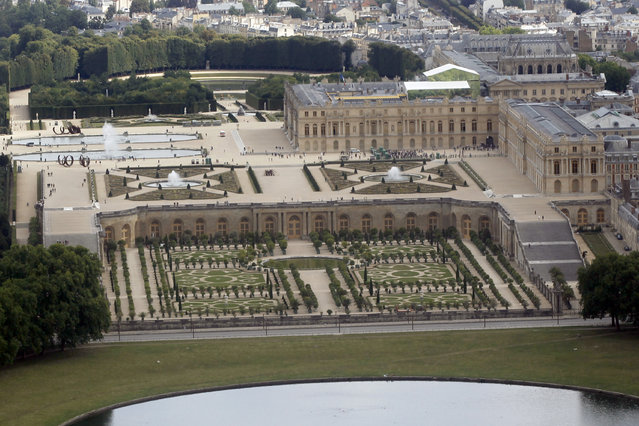 Versailles Palace: The Chateau de Versailles is seen in an aerial view outside Paris July 14, 2011. (Photo by Charles Platiau/Reuters)