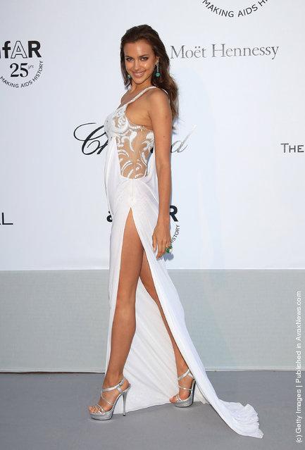 Irina Shayk attends amfAR's Cinema Against AIDS Gala during the 64th Annual Cannes Film Festival at Hotel Du Cap
