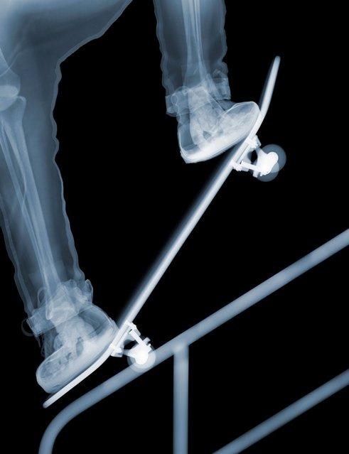 """Skater"": Geezer has skills. (Photo by Nick Veasey/Barcroft Media)"